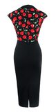 Cherry Print Pencil DressDressCherri Lane - Cherri Lane 50's Vintage Inspired Pinup Rockabilly & Alternative Clothing Australia