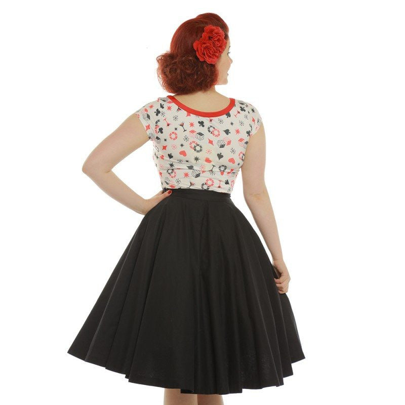 Delia Red and White Dice Print TopTopLindy Bop - Cherri Lane 50's Vintage Inspired Pinup Rockabilly & Alternative Clothing Australia