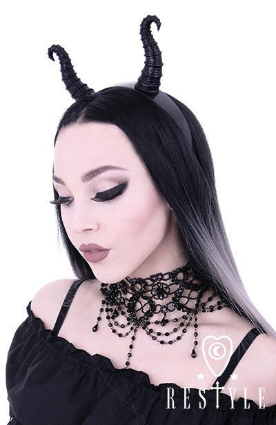 Diabolical Headband, Maleficent HornsAccessoriesRestyle - Cherri Lane 50's Vintage Inspired Pinup Rockabilly & Alternative Clothing Australia