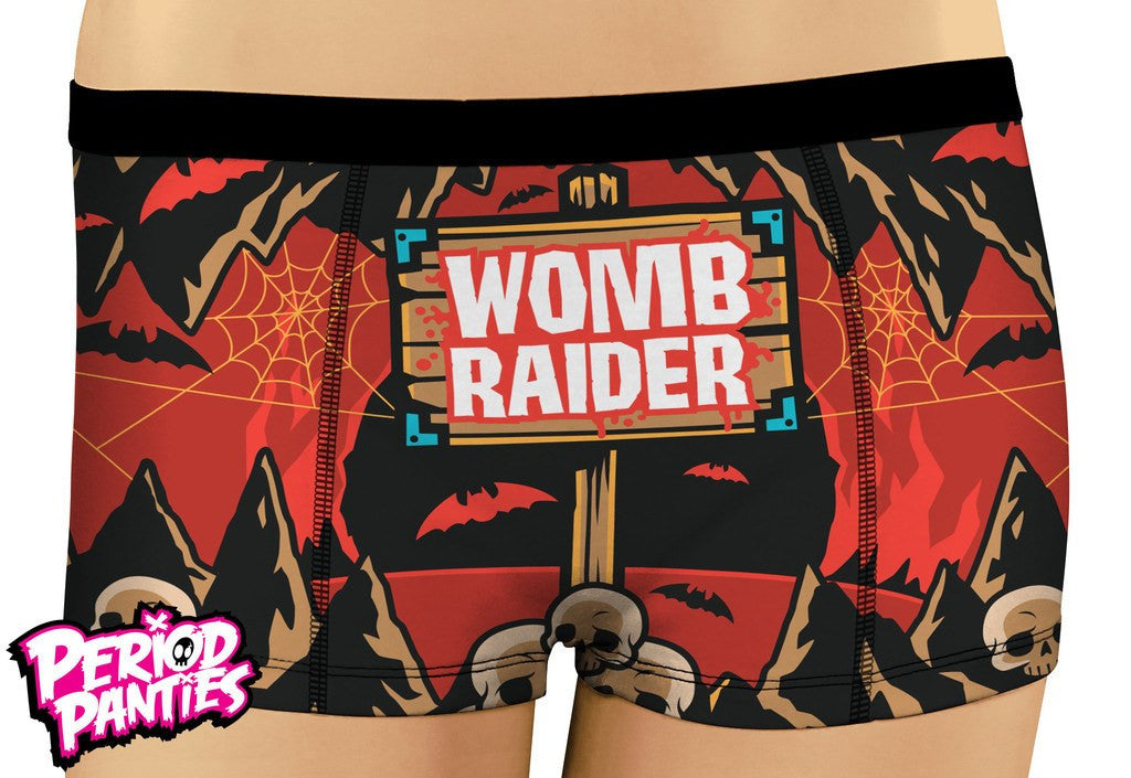Period Panties Womb Raider BoyshortsUnderwearPeriod Panties - Cherri Lane 50's Vintage Inspired Pinup Rockabilly & Alternative Clothing Australia