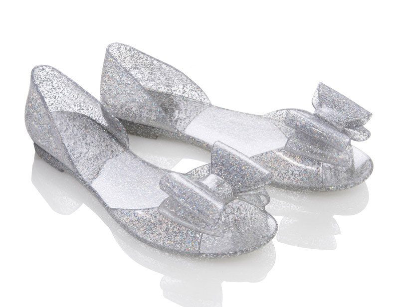 Glitterfly clear Jelly ShoesShoesFiebiger - Cherri Lane 50's Vintage Inspired Pinup Rockabilly & Alternative Clothing Australia