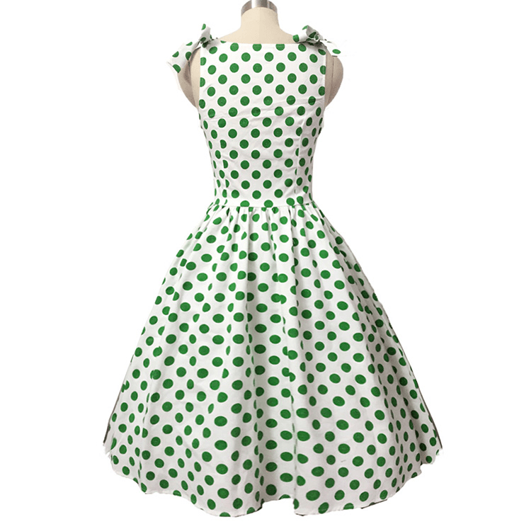 Elegant Vintage Bowknot Polka Dot Swing DressDressCherri Lane - Cherri Lane 50's Vintage Inspired Pinup Rockabilly & Alternative Clothing Australia