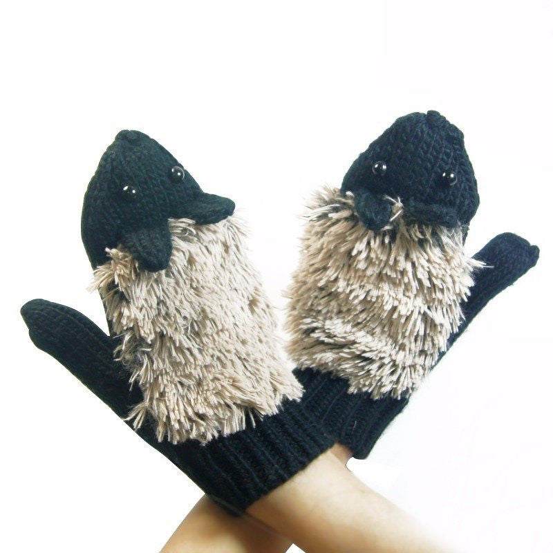 Knitted Hedgehog Gloves Various coloursglovesCherri Lane - Cherri Lane 50's Vintage Inspired Pinup Rockabilly & Alternative Clothing Australia