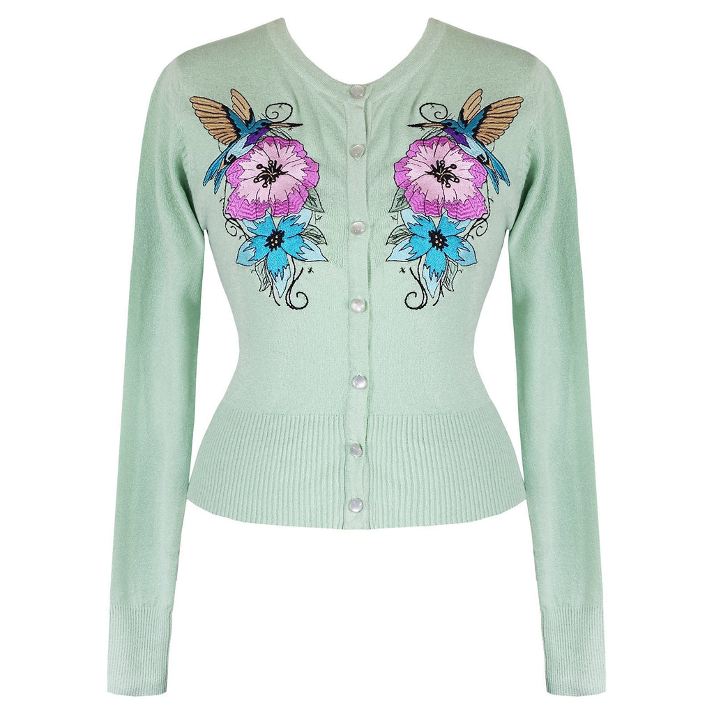 Hummingbird Cardigan XS to 4XL Plus SizeCardiganHell Bunny - Cherri Lane 50's Vintage Inspired Pinup Rockabilly & Alternative Clothing Australia