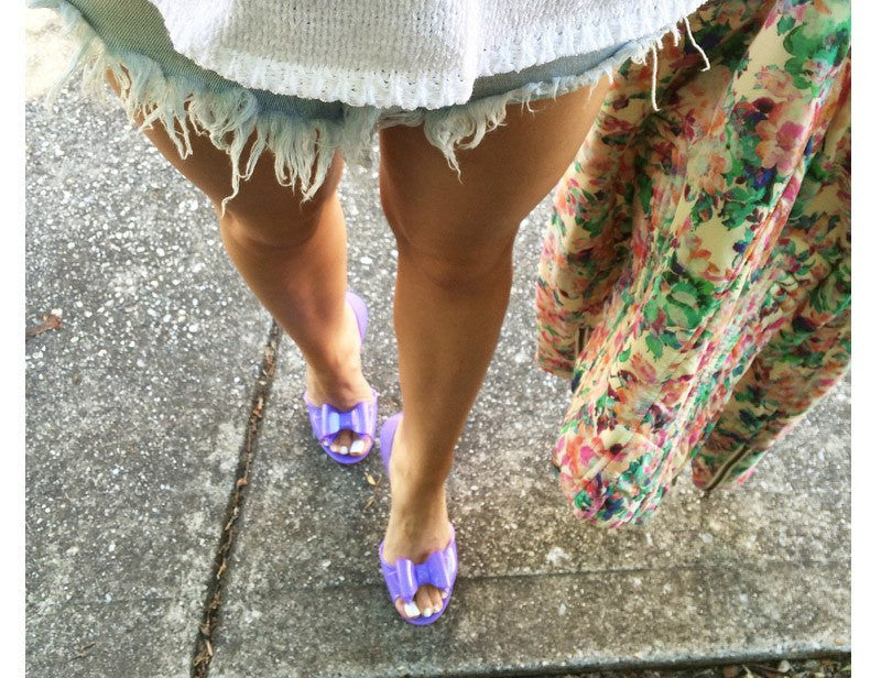 Icanfly Pastel Purple Jelly ShoesShoesFiebiger - Cherri Lane 50's Vintage Inspired Pinup Rockabilly & Alternative Clothing Australia