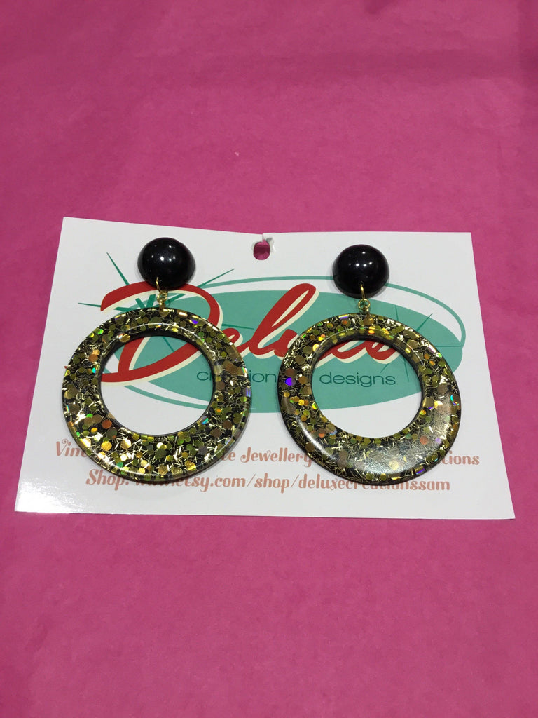 All the Glitz & Glamour Large Hoop Earrings