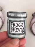 Frog Breath Potion Bottle - A Nightmare Before Christmas - Laser Cut Wood Brooch