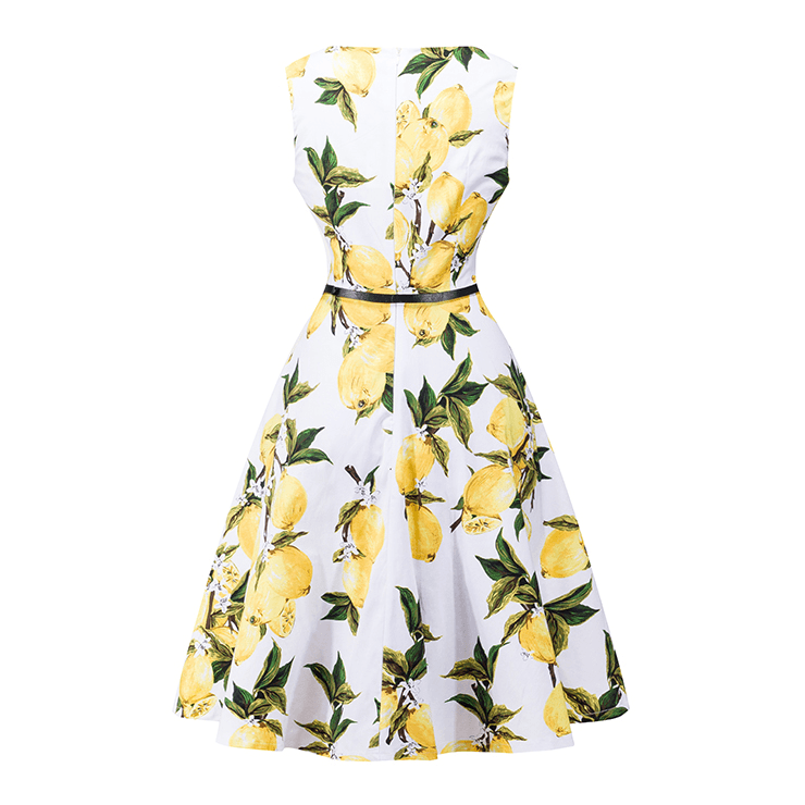 Sabrina 1950s Lemon Print A-line Swing DressDressCherri Lane - Cherri Lane 50's Vintage Inspired Pinup Rockabilly & Alternative Clothing Australia