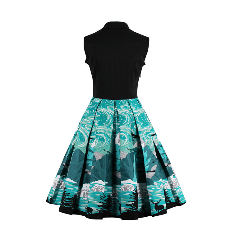 Northern Lights Pleated Collar Dress
