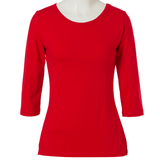 Play Nice Plain Round Neck Half Sleeve Casual T-Shirt Red
