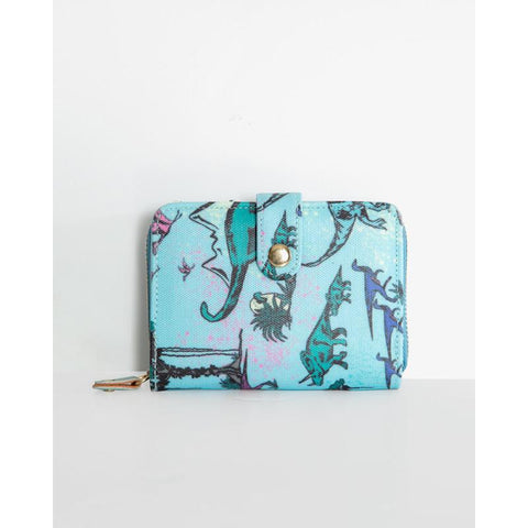 Pursia Green Deer Print Purse