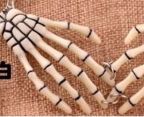 Skeleton bone Hand Necklace