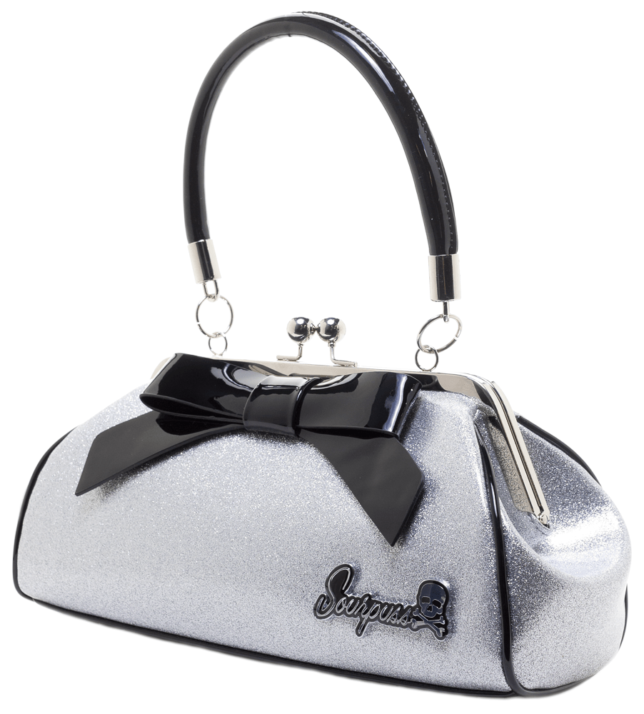 Floozy Purse Glitter Silver Limited Edition
