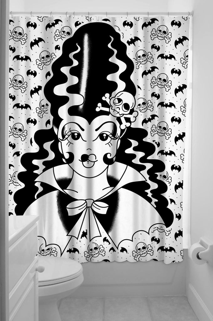 Sourpuss Frankengal Shower CurtainHomewaresSourpuss - Cherri Lane 50's Vintage Inspired Pinup Rockabilly & Alternative Clothing Australia
