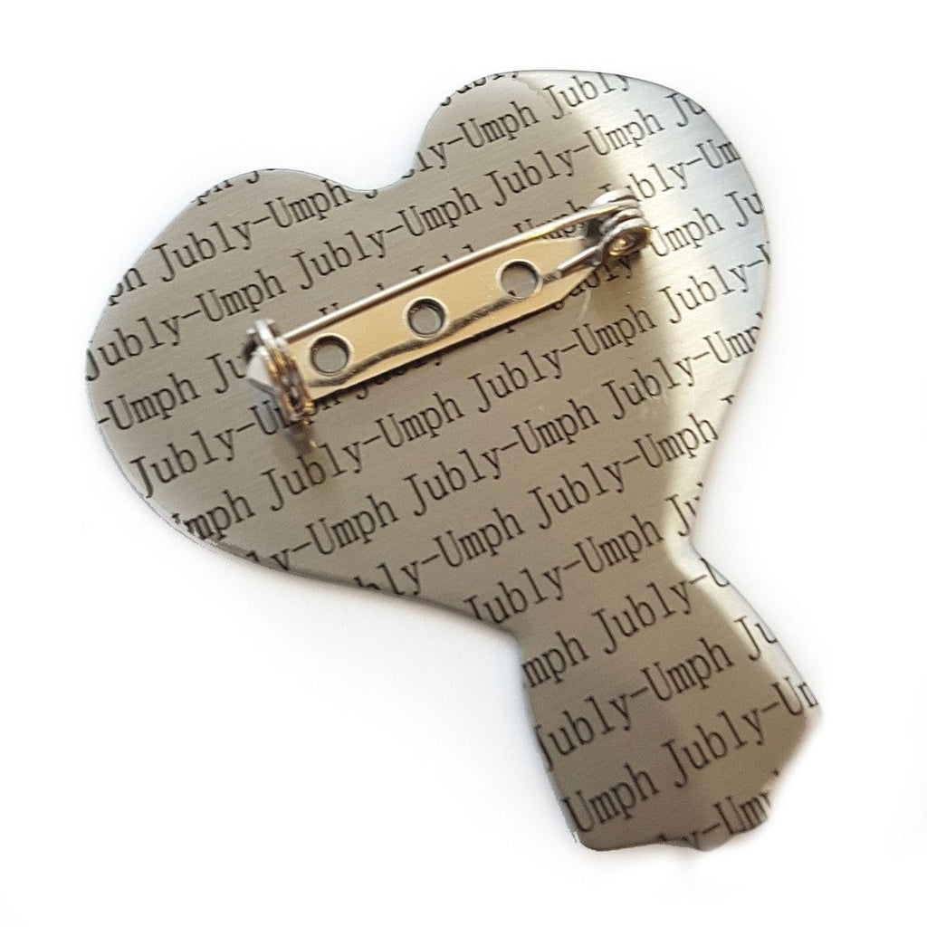 Tape Measure My Love Heart Brooch