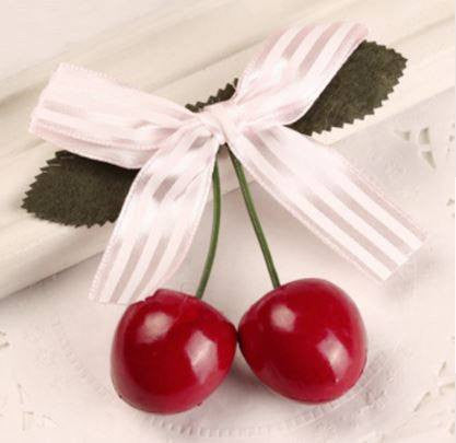 Real Look Cherry Hair Clip BarretteHairclipCherri Lane - Cherri Lane 50's Vintage Inspired Pinup Rockabilly & Alternative Clothing Australia