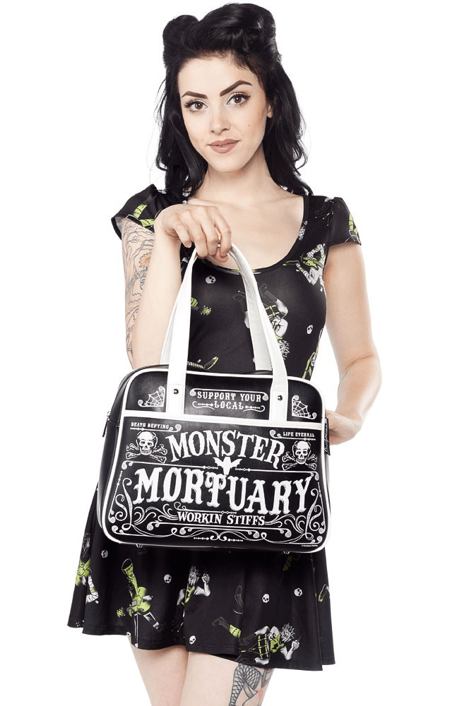 Sourpuss Working Stiffs Bowler Bag PursehandbagsSourpuss - Cherri Lane 50's Vintage Inspired Pinup Rockabilly & Alternative Clothing Australia