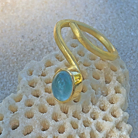 The Philippe Spencer Floating Aquamarine Ring