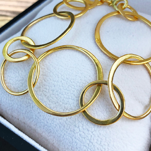 The Philippe Spencer 20K Gold Hand Forged Round Link Bracelet