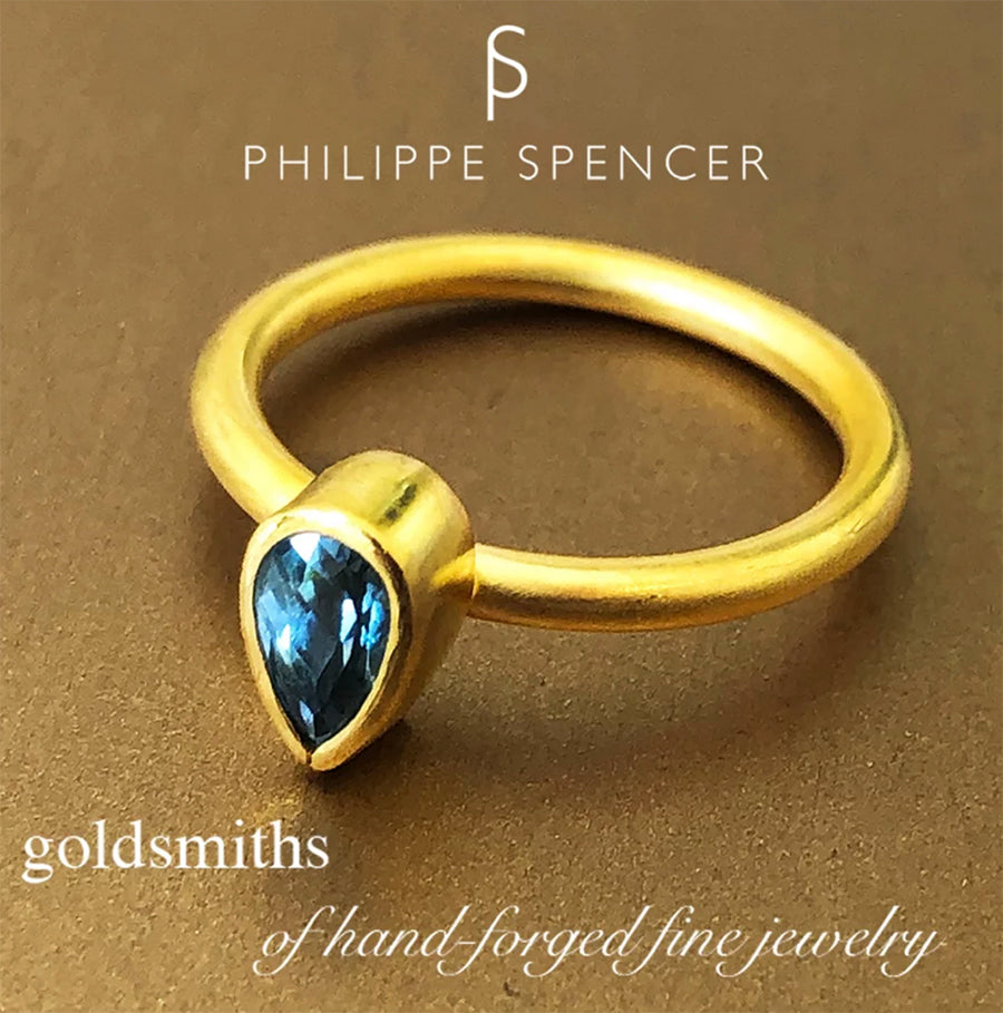 The Philippe Spencer Aquamarine Nesting Ring