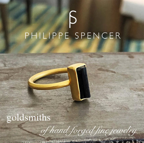 The Philippe Spencer Black Tourmaline Nesting Ring