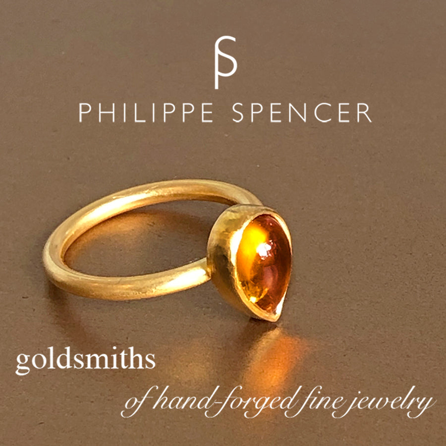 The Philippe Spencer Teardrop Citrine Nesting Ring