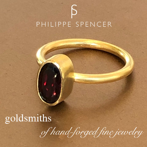 The Philippe Spencer Garnet Nesting Ring