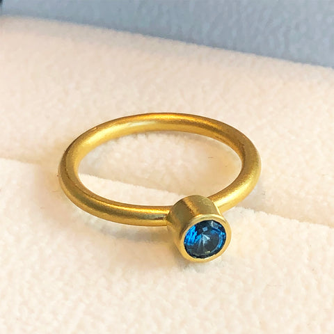 The Philippe Spencer London Blue Topaz Nesting Ring
