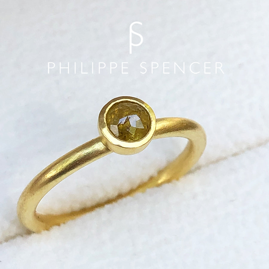 The Philippe Spencer Natural Yellow Rose Cut Nesting Ring