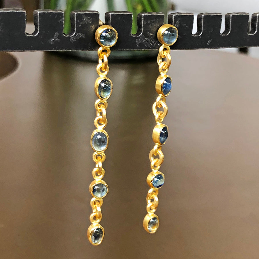 The Philippe Spencer Long Sapphire Earrings
