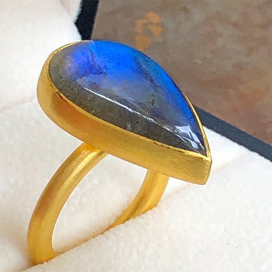 The Philippe Spencer Labradorite Cabochon Statement Ring