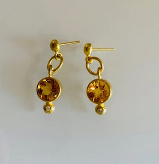 Philippe Spencer Gold Citrine earrings