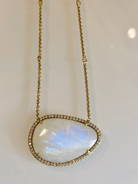 The Moonstone and Diamond Necklace