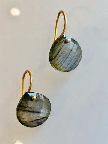 The Grace Signature Earrings in Labradorite