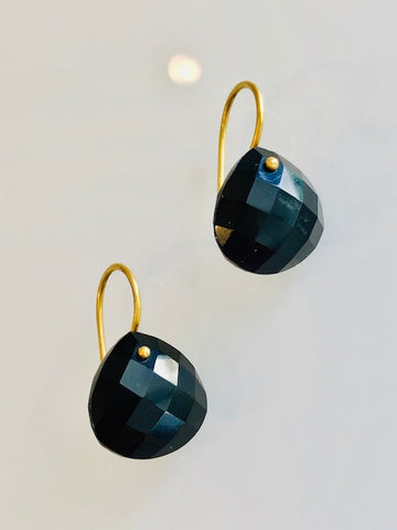 The Grace Signature Earrings in Black Onyx
