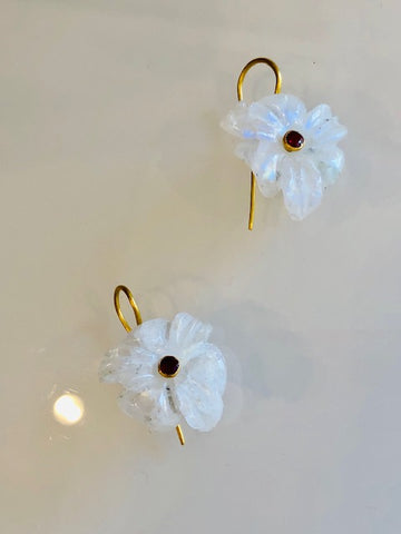 The White Orchid Earrings