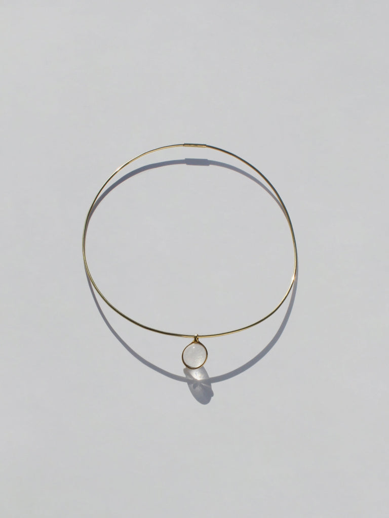 The Gold Choker with A Crystal Orb
