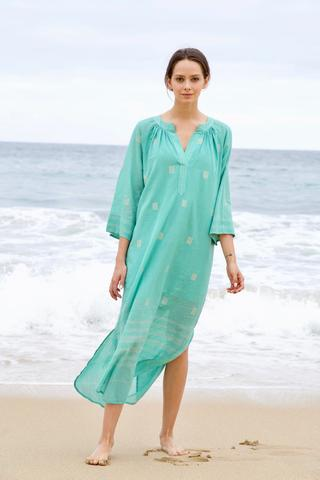 Mirth Palm Spring Caftan in Pool