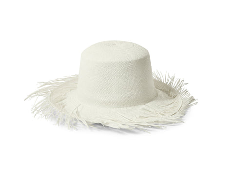The Positano White Straw Hat