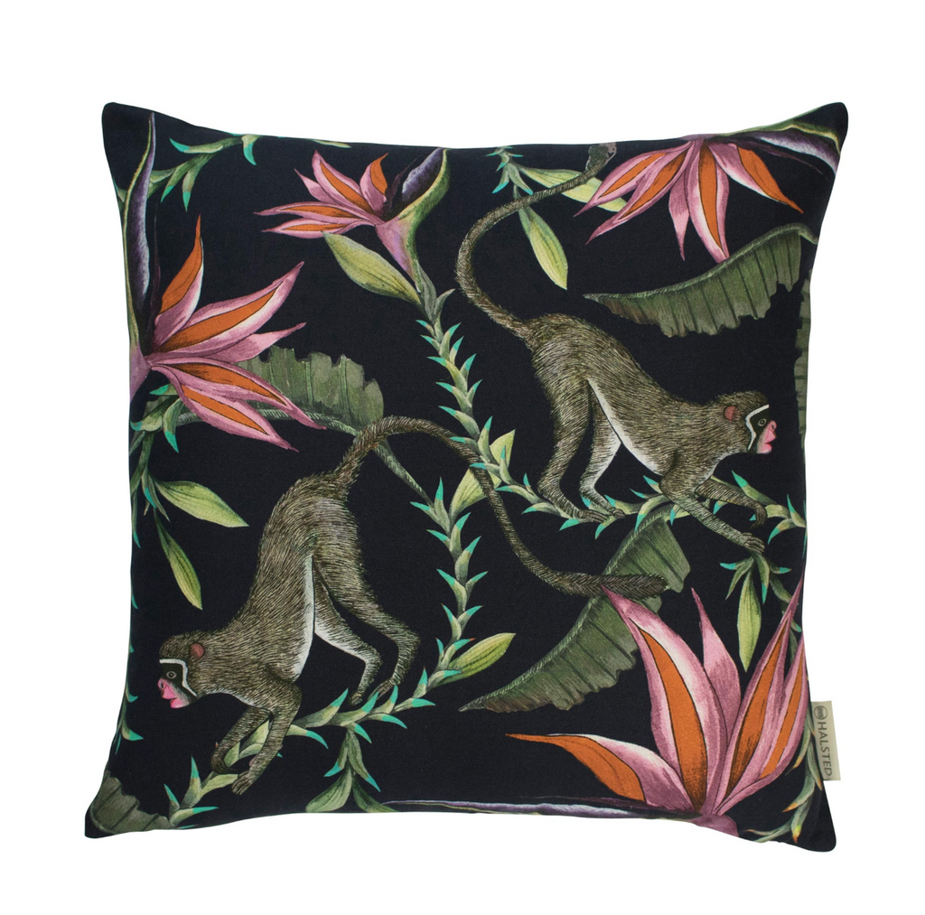 Monkey Paradise Pillow, Cotton - Night
