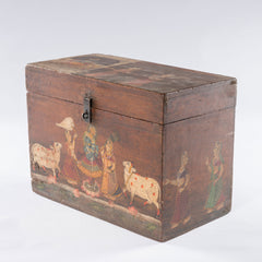 Antique Temple Trunk, Krishna with Flute