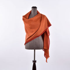 orange himalayan cashmere scarf