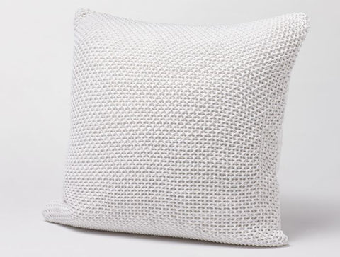 Coyuchi's Karamiori Pillow cover and insert, in Alpine White