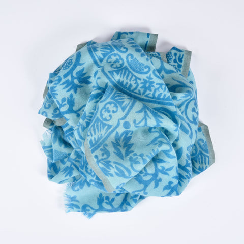 Medallion Print Cashmere Scarf