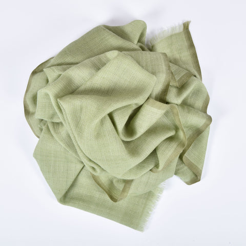 Moss Basket Weave Cashmere Scarf