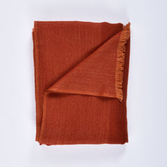 red himalayan cashmere scarf folded