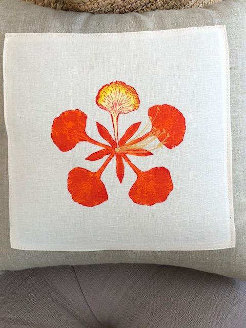 Helio Graphics Orange Poinciana Pillow
