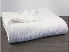 Coyuchi Wave Cotton Blanket Twin
