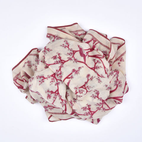 Pink Twisted Vine Cashmere Scarf
