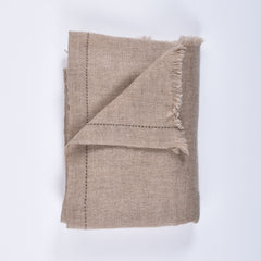 beige himalayan cashmere scarf folded